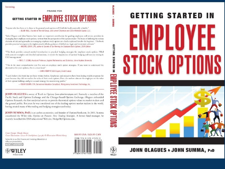 A New Design of Employee Stock OptionsJohn Olagues504-875-4825 or 504-428-9912olagues@gmail.comhttp://www.wiley.com/WileyC...