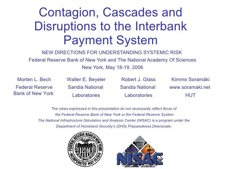 NEW DIRECTIONS FOR UNDERSTANDING SYSTEMIC RISK  Federal Reserve Bank of New York and The National Academy Of Sciences New ...