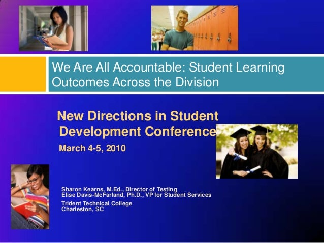 We Are All Accountable: Student LearningOutcomes Across the DivisionNew Directions in StudentDevelopment Conference March ...