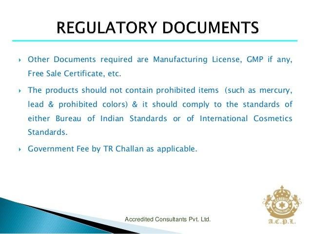 COSMETIC REGISTRATION IN INDIA ppt