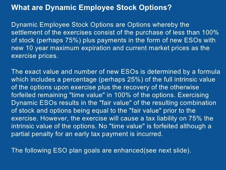 Employee stock options how much