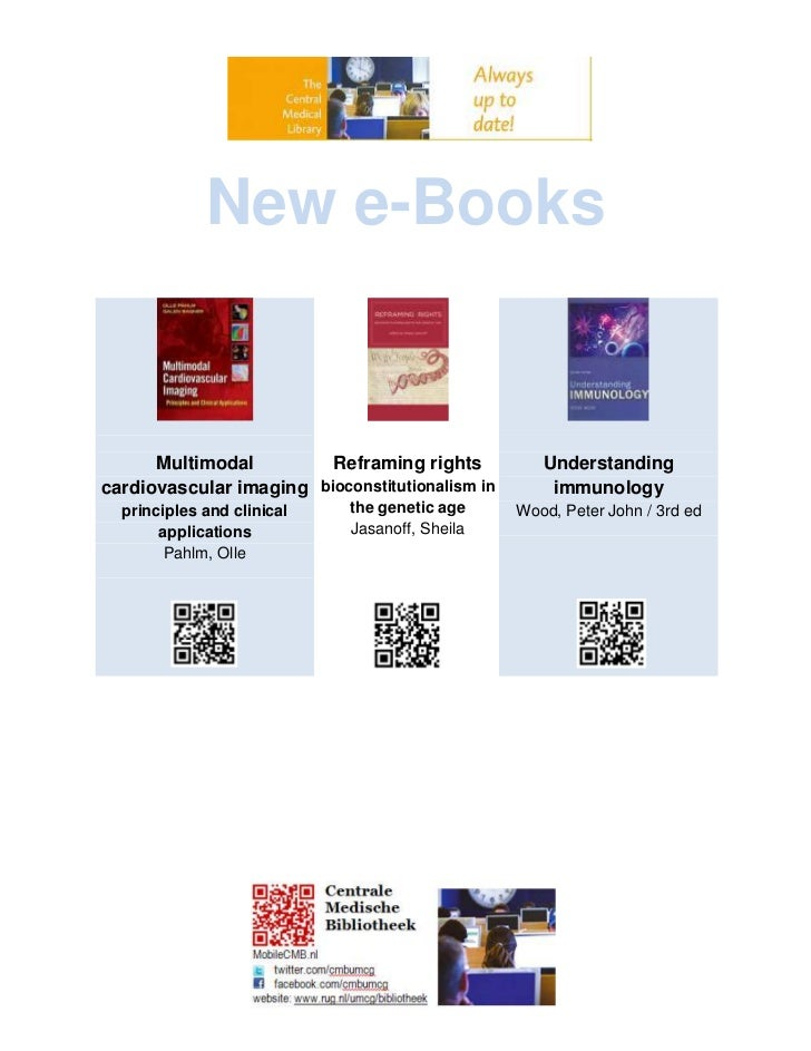 New e-Books      Multimodal         Reframing rights           Understandingcardiovascular imaging bioconstitutionalism in...