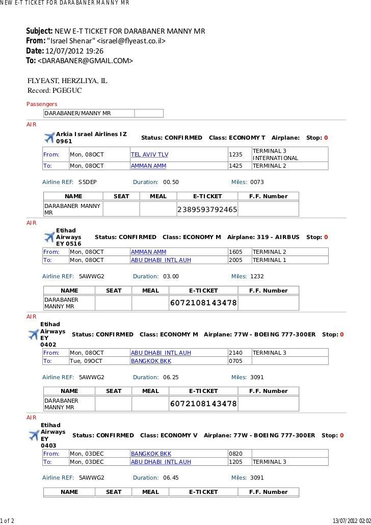 """NEW E-T TICKET FOR DARABANER MANNY MR         Subject: NEW E-T TICKET FOR DARABANER MANNY MR         From: """"Israel Shenar""""..."""