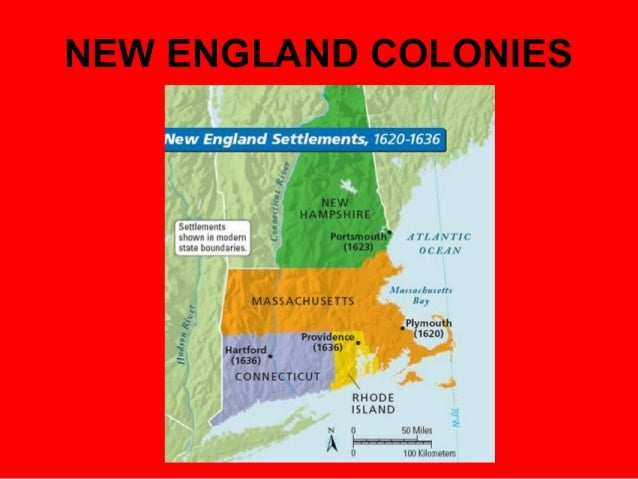 the new england colonies Slavery and indentured servitude in the american colonies in colonial new england,  the typical new england.