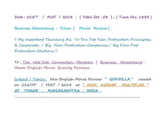"New english movie review  ""  godzilla """