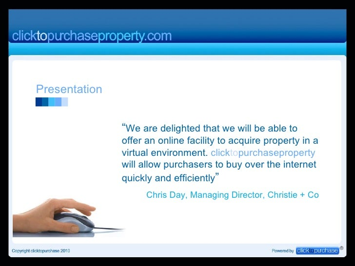Presentation to Agents