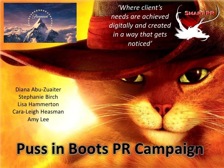 Puss in Boots PR Campaign