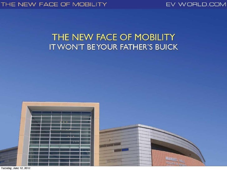 Summer Institute 2012: New Face of Mobility
