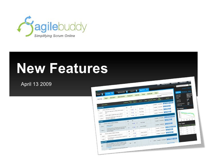 New Features April 13 2009