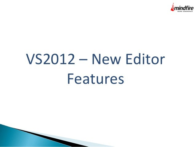 New features in VS 2012