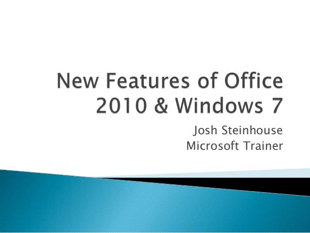 New features of office 2010