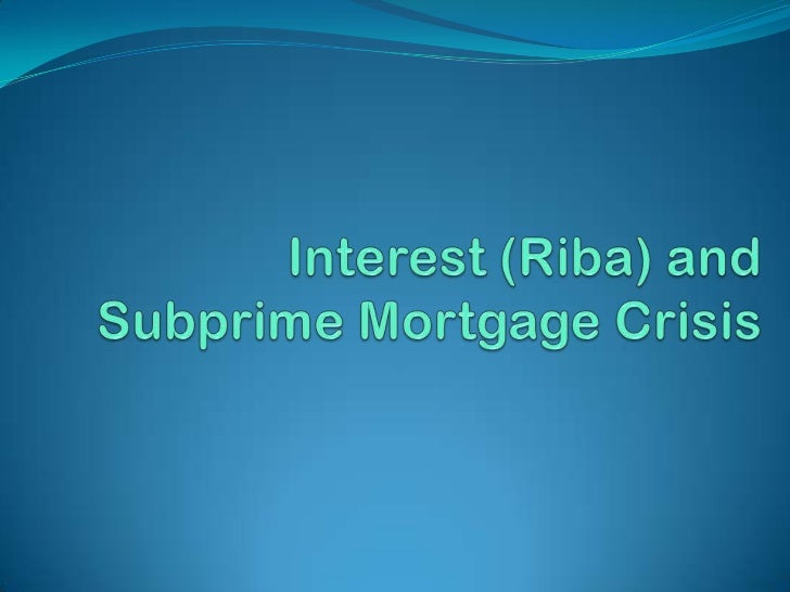 Background to the study and statement of the problem The subprime mortgage crisis was far more serious than  any experien...