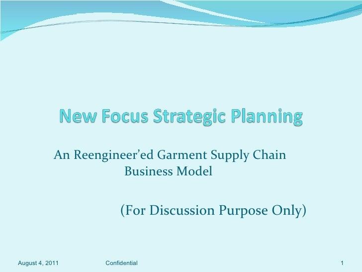 New focus garment supply chain strategic planning