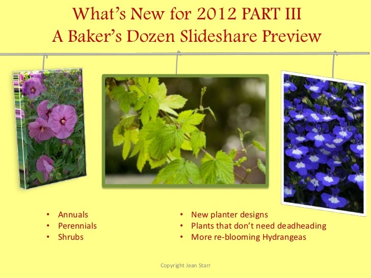 Part III - New Plants and Garden Products for 2012
