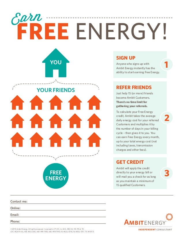 Ambit Energy New Free Energy Flyer