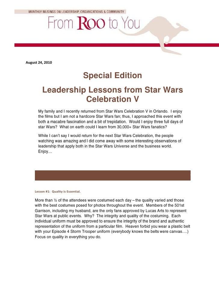 Leadership Lessons From Star Wars Celebration V Compressed