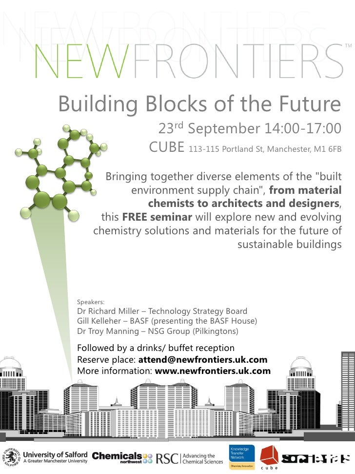 Building Blocks of the Future                      23rd September 14:00-17:00                     CUBE 113-115 Portland St...