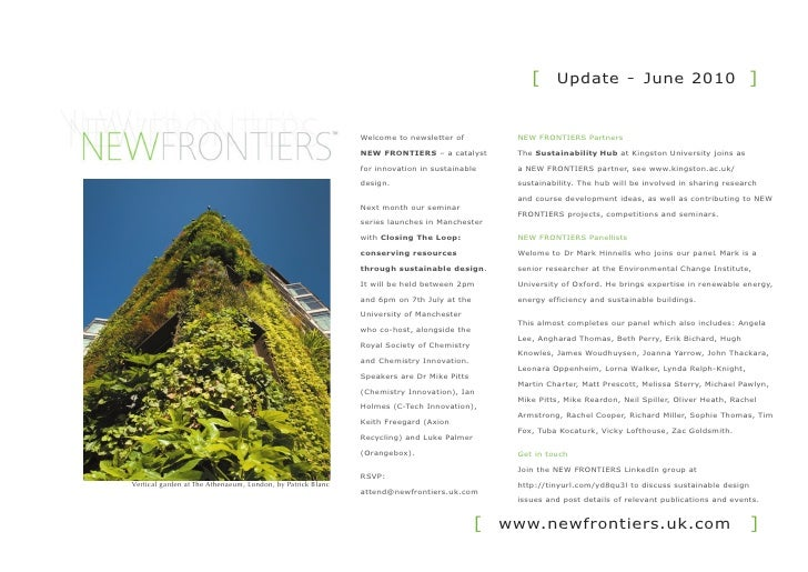 [ Update - June 2010 ]                                                                Welcome to newsletter of         NEW...