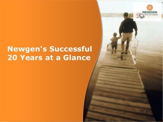 Newgen's Successful 20 Years at a Glance