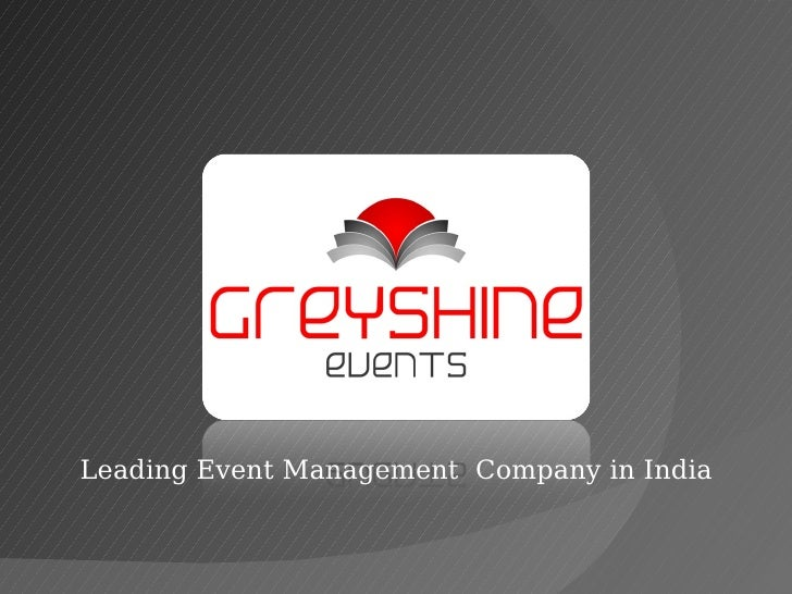 Leading Event Management  Company in India