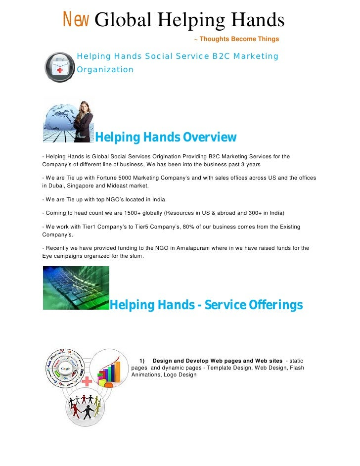 New Global Helping Hands                                                          ~ Thoughts Become Things               H...