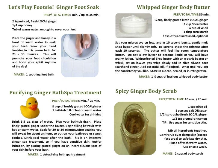 Let's Play Footsie! Ginger Foot Soak                                                 Whipped Ginger Body Butter           ...