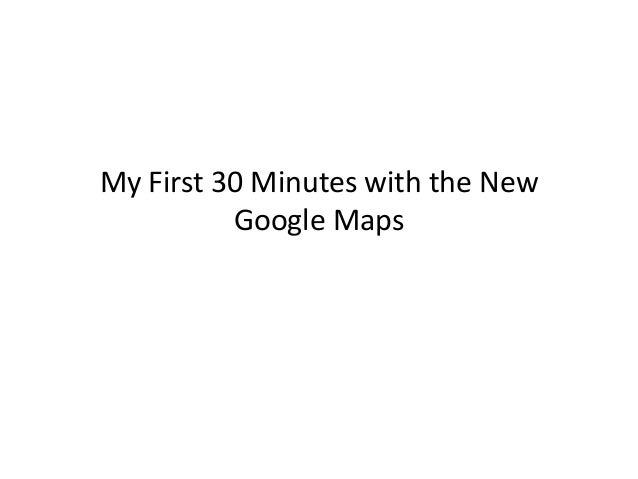 New googlemaps