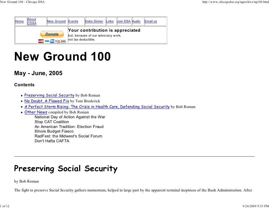 New Ground 100   Chicago DSA