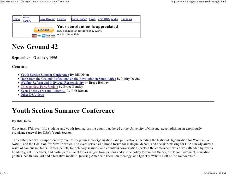 New Ground 42 - Chicago Democratic Socialists of America                                                                  ...