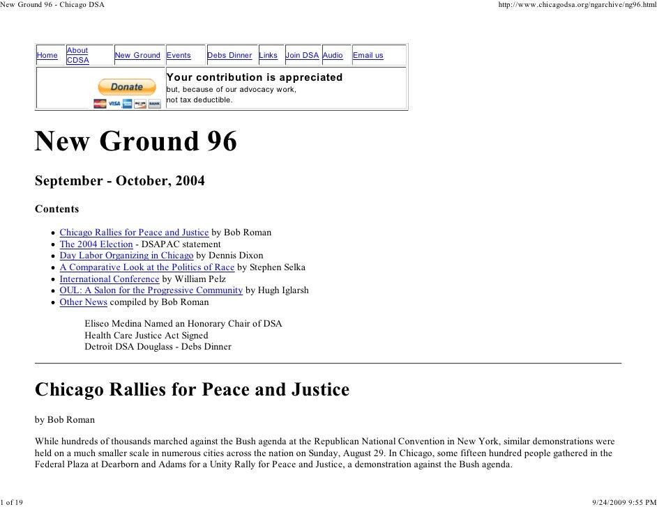 New Ground 96 - Chicago DSA                                                                                               ...