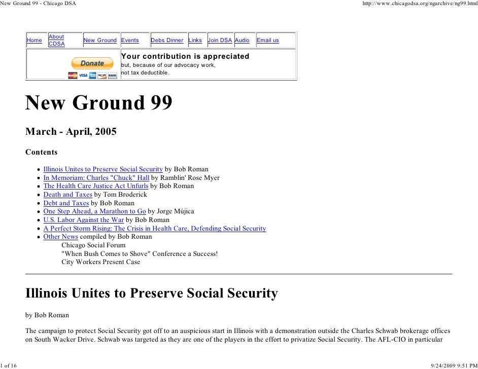 New Ground 99   Chicago DSA