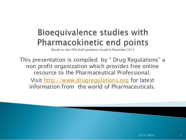New guidance on Bioequivalence