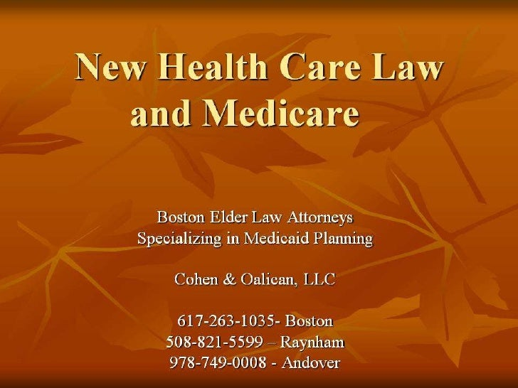 New health care law and medicare