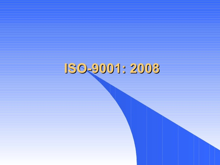 ISO-9001: 2008