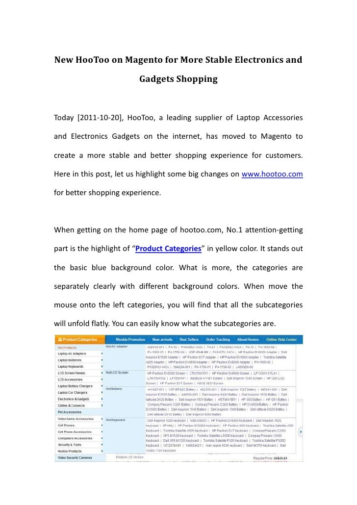 New HooToo on Magento for More Stable Electronics and Gadgets Shopping