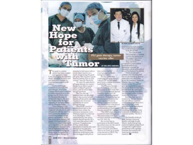 New hope for patients with tumor