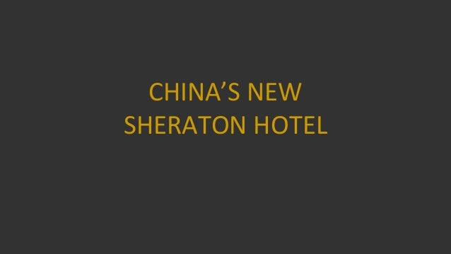 New hotel in china