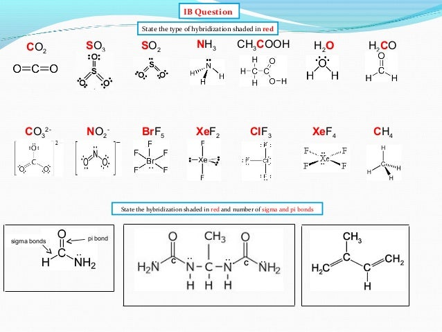 IB Chemistry on Valence Bond and Hybridization Theory H2co Lewis Structure