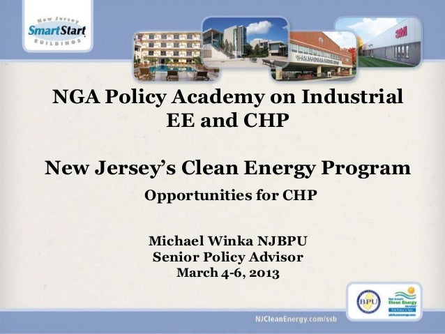 New jersey's clean energy program   opportunities for chp