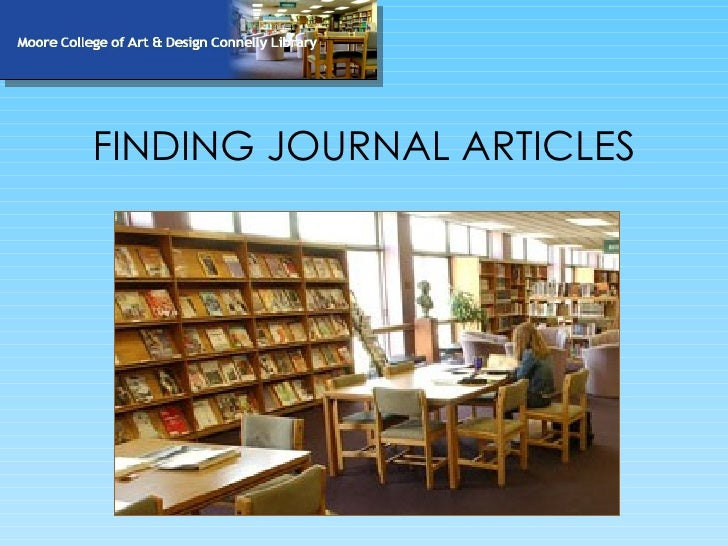 FINDING JOURNAL ARTICLES
