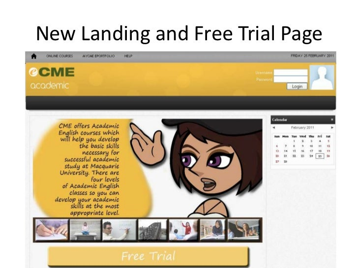 New Landing and Free Trial Page<br />