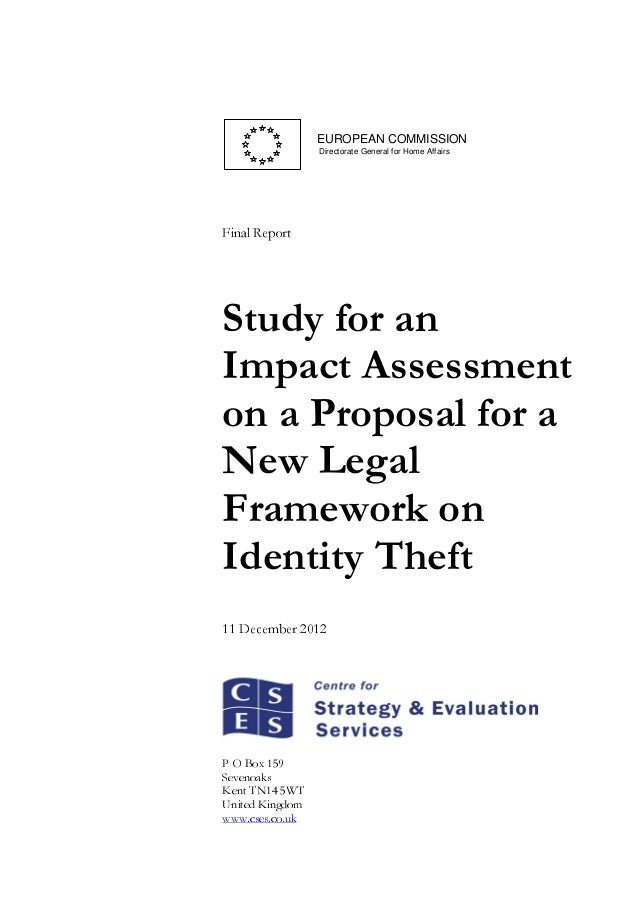 EUROPEAN COMMISSION Directorate General for Home Affairs  tropeR laniF  Study for an Impact Assessment on a Proposal for a...