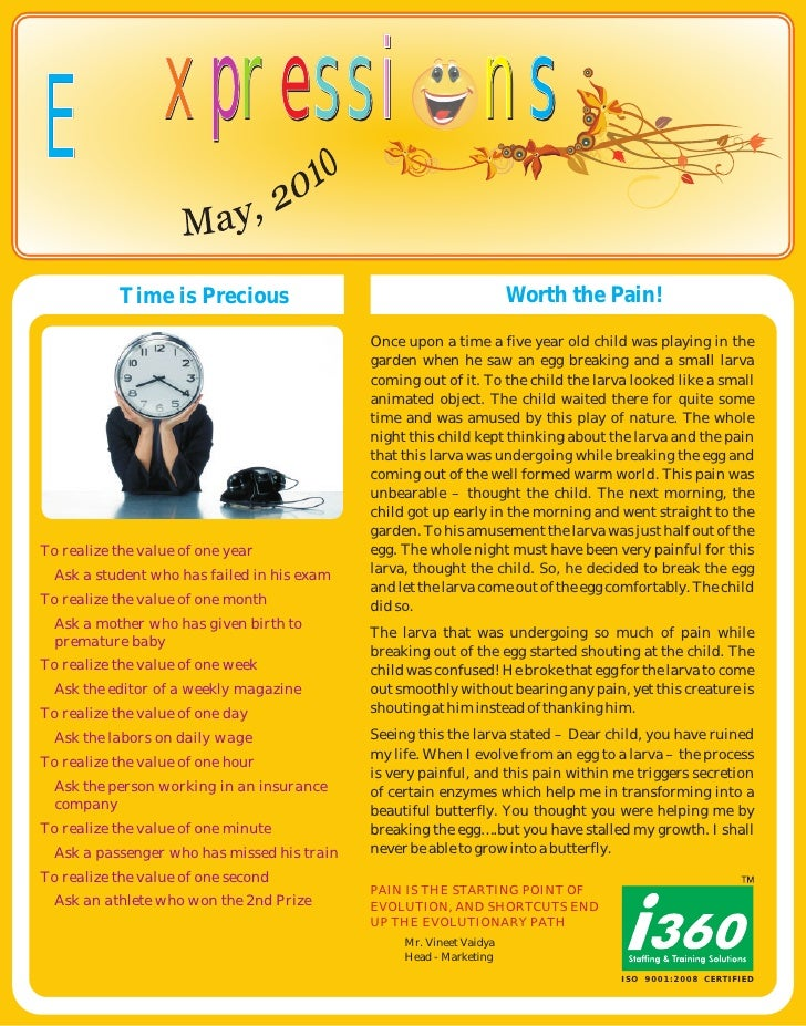 I360 Newsletter Student  May
