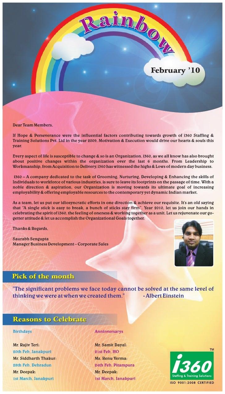 I360 Franchise Newsletter February 2010