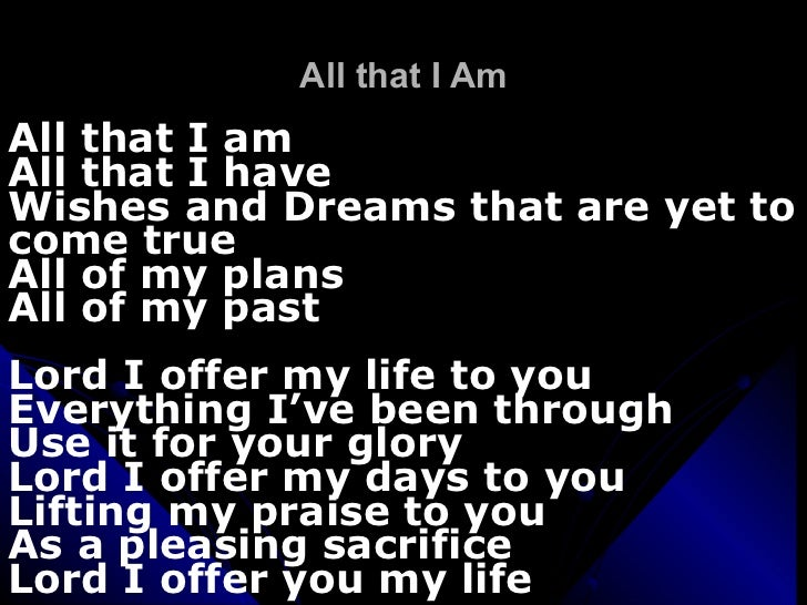 We ve come to bless your name lyrics