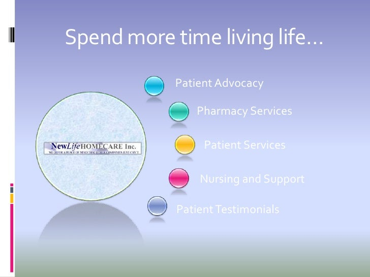 Spend more time living life…            Patient Advocacy                 Pharmacy Services                   Patient Servi...