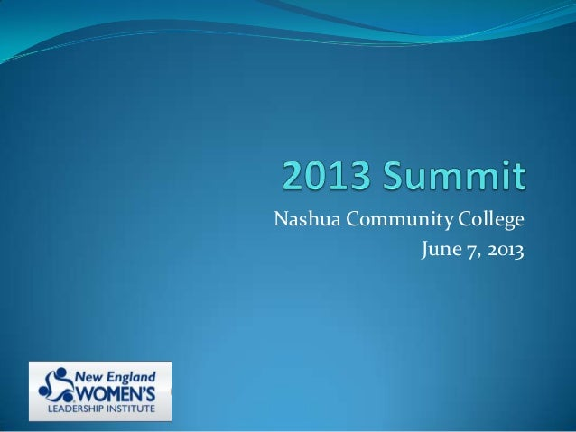 Nashua Community CollegeJune 7, 2013