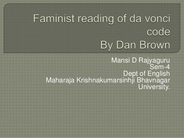 Feminism in 'Da Vinci Code'