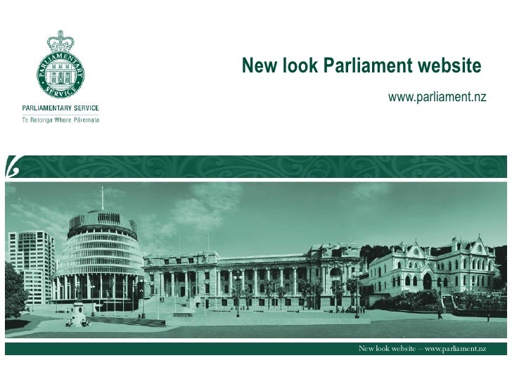 New Look Parliament Website