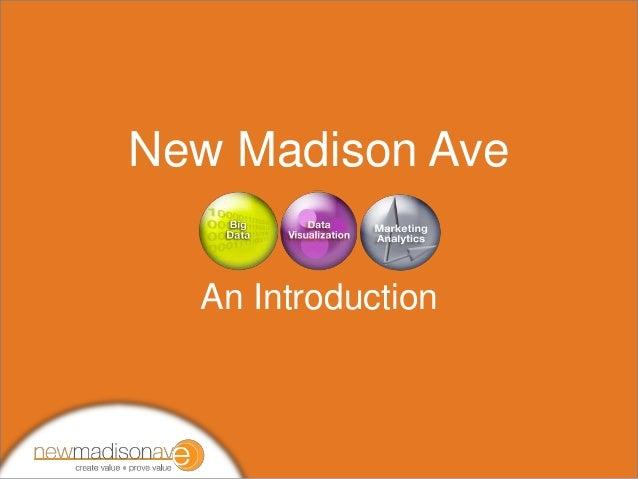 New Madison Ave: Marketing, Creative & Data Technologists